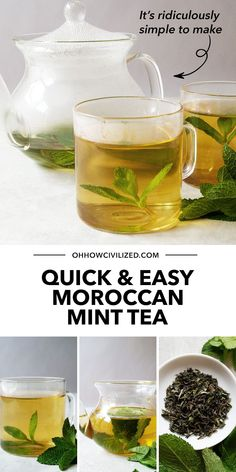 Morroccan mint tea is made special with fresh mint leaves. It's also one of the easiest herbal tea drinks you can make and enjoy on any given day. Moroccan mint tea is a tea blend of gunpowder green tea and mint. And sugar, lots of it if you prefer! Learn how to make it in this guide; click to start.
