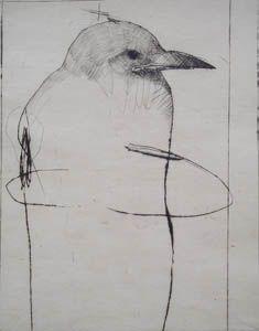 Le Totem, Intaglio Printmaking, Drypoint Etching, Etching Prints, Bird Illustration, Art Abstrait, Ex Libris, Totems, Crayon