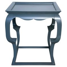 Cheverly Side Table in Blue