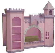 Castle bunk bed plans Toddlers Room is our pink and white castle bunk bed with slide Handy with tools Build one of our Luxurious Children s Castle Beds yourself Toddler Bunk Beds, Girls Bunk Beds, Kid Beds, Princess Bunk Beds, Princess Bedrooms, Princess Room, Castle Bed, Pink Castle, Princess Castle