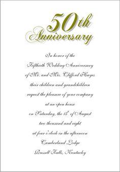 50th anniversary invitation wording