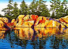 Landscape Paintings and photographs : Margarethe Vanderpas Fine Artist Killarney Ontario Watercolor Landscape, Abstract Landscape, Landscape Paintings, Watercolor Paintings, Landscapes, Watercolours, Watercolor Artists, Acrylic Paintings, Canadian Painters