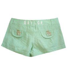 #Baylor Seersucker Shorts