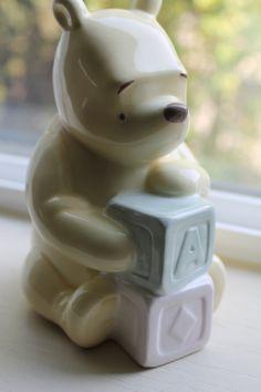 Vintage Disney Classic Winnie the Pooh Bank Great For Baby Nursery. $8.95, via Etsy.
