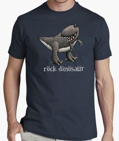 T-Rex Rock Dinosaur T-shirt Retro Gamer, Quality T Shirts, You Are The Father, T Rex, Girl Gifts, Cool Shirts, Things I Want, Vintage, Mens Tops