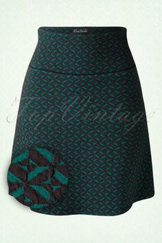 King Louie 60s Green and Black Borderskirt 123 39 15547 20150806 0005W1