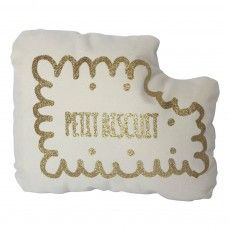 Biscuit Glitter Gold Cushion