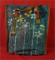 Handmade Fabric, Brass and Leather large Bag for Ladies from Sami Amin.