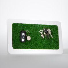 Schlüsselboard mit Rasenfläche