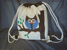 Owl Backpack by CCsCreativeCorner on Etsy, $25.00