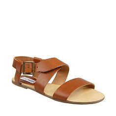 Steve Madden Carlyn Cognac Leather Sandals