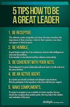 Tips on being a great leader