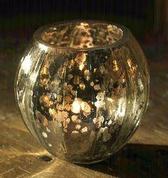 Mercury Glass Lantern.