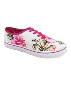 Love this Rockland Footwear Fuchsia Hawaii Floral Enchant Sneaker by Rockland Footwear on #zulily! #zulilyfinds