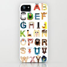 Muppet Alphabet iPhone Case by Mike Boon - $35.00