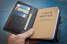 Wallet / notebook / leather cover