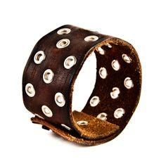 Men's Leather Bracelets Cuffs Wristbands Vintage by rainwheel, $34.75