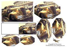 Vintage Gold Car Passed Plate keys Gift Tag Pyrimage on Craftsuprint - Add To Basket!