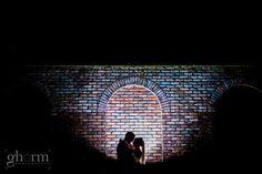 A silhouette photo of a bride and groom taken outside the Radisson Blu hotel, Sligo, Ireland. Wedding photography by ghorm studio photography, www.ghormstudio.ie
