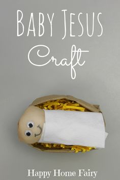Baby Jesus Craft - LOVE this! Little doll is made out of a pantyhose! My preschoolers will have so much fun with this! Fun Christmas Games, Preschool Christmas Crafts, Christmas Activities, Kids Christmas, Holiday Crafts, Kids Crafts, Christmas Bible, Church Activities, Preschool Ideas