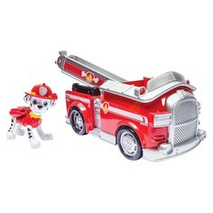 <p>It's Marshall to the ruff-ruff rescue! Spring into action with Marshall and his Fire Fightin' Firetruck to save the day! This pup and vehicle combination is loaded with real working wheels and a moveable ladder! Get fired up with Marshall and the rest of the Paw Patrol by collecting the entire line of Paw Patrol vehicles! Together, your child's imagination will be lit up with pup inspired rescue missions full of friendship, teamwork and bravery...