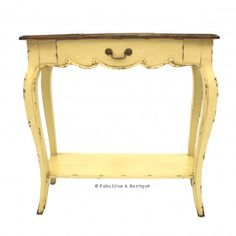 French Country Rustic Side Table - Ivory French  Ornate Modern Baroque & Rococo Furniture www.fabulousandbaroque.com