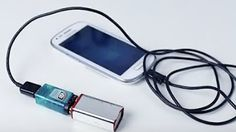How to Make an Emergency Mobile Phone Charger using AA Batteries - YouTube