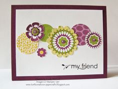 Floral District Circles - love the design and color combination.