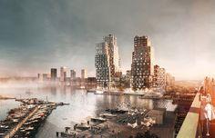 Kjellander + Sjöberg Architects - Mixed Cubes - Mixed Use - View from the bridge