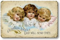 Item 05112 Vintage Style Guardian Angels Plaque