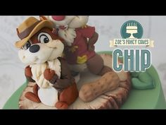 Chip cake topper : Chip and Dale rescue rangers Disney - YouTube