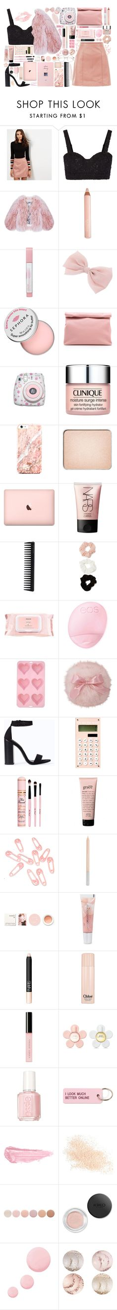 """Untitled #68"" by foteini98 ❤ liked on Polyvore featuring New Look, Alice + Olivia, Florence Bridge, Trish McEvoy, Maybelline, Sephora Collection, Marie Turnor, Polaroid, Clinique and shu uemura"