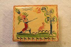 Peter Hunt Folk Art Tin Box   eBay