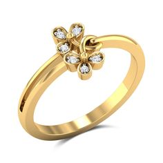 Selena Diamond Studded Gold Ring