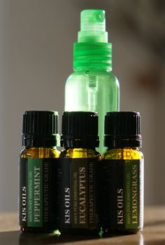 DIY Tick & Mosquito Spray  2 ounces of water, 10 drops each eucalyptus oil, lemongrass oil, peppermint oil