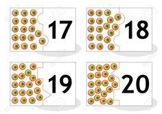 Aprenda Contar Las Cartas Rompecabezas 2part Para Cortar Y Jugar Huevos De Rana…