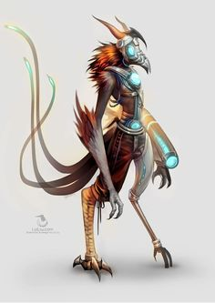 Cybernetic Avian by Landylachs on deviantART
