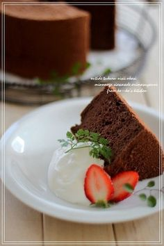 ♥ふわふわココアシフォンケーキ♥