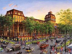 The Wealth Elite During America S Gilded Age Would Travel To Saratoga Springs Ny Staying At Grand Union Hotel Depicted Here