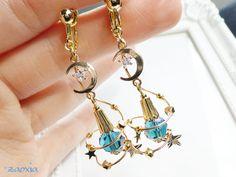Kawaii Jewelry, Cute Jewelry, Diy Jewelry, Jewelery, Jewelry Accessories, Handmade Jewelry, Jewelry Design, Chain Earrings, Cute Earrings