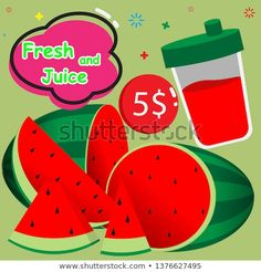 Find Watermelon Juice Fun Design stock images in HD and millions of other royalty-free stock photos, illustrations and vectors in the Shutterstock collection. Thousands of new, high-quality pictures added every day. High Quality Images, New Pictures, Create Yourself, Watermelon, Vectors, Cool Designs, Juice, Royalty Free Stock Photos, Illustrations