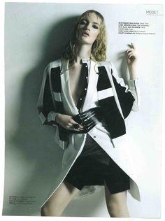 """ROXX"" Ring black tourmaline featured in Lifestyle Woman Magazine May 2014. www.martalarsson.com"
