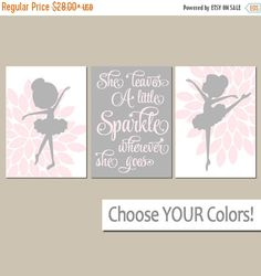 BALLERINA Wall Art Canvas or Prints She Leaves A by TRMdesign