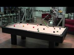 """""""Playing Pool with a Dual-Armed Robot"""" by Thomas Nierhoff, Omiros Kourakos, and Sandra Hirche, all with the Institute of Automatic Control Engineering at TUM. via YouTube #Robot #Pool #YouTube"""
