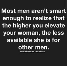 """Strong women only intimidate weak men. Elevate your woman. Give her space to grow and find the queen within her. It is worth every struggle. And only then, you are able to say """"i am a real man"""". Great Quotes, Quotes To Live By, Inspirational Quotes, Sassy Quotes, Awesome Quotes, Words Quotes, Wise Words, Sayings, Weak Men Quotes"""