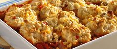 Ground beef? Check. Cheese? Check. Bisquick® mix? Check. You probably have everything you need to make this hearty biscuit-topped casserole.