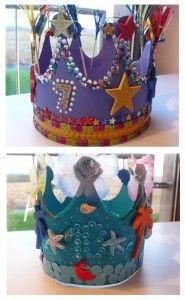 Geburtstagskronen selber machen. Anleitung zum Basteln toller Geburtstagskronen. #Kindergeburtstag