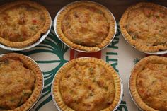 Crawfish pies aren't always easy to find in New Orleans. They appear at some festivals-principally, the Jazz and Heritage Festival that begins at the end of April. But that's just once a year, and I need a crawfish pie fix far more often. Crawfish Bisque, Crawfish Pie, Crawfish Recipes, Cajun Recipes, Pie Recipes, Seafood Recipes, Great Recipes, Cooking Recipes, Favorite Recipes