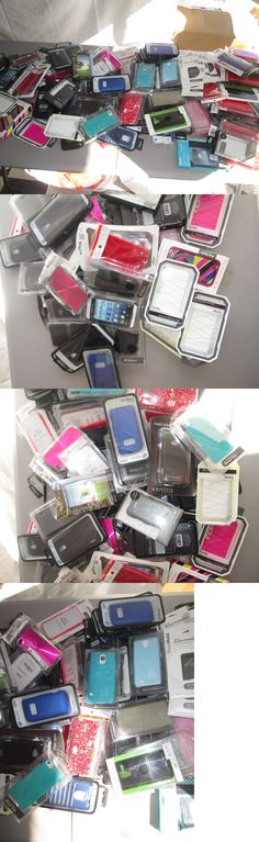Other Consumer Electronic Lots: Lot Of Over 150 Cell Phone Cases Various Styles + Screen Protectors New W5 -> BUY IT NOW ONLY: $85 on eBay!