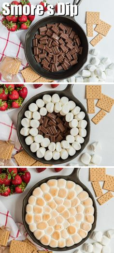 Fun Baking Recipes, Easy Delicious Recipes, Sweet Recipes, Delicious Desserts, Yummy Food, Dessert Dips, Dessert Recipes, Smores Dip Recipe, Easy Desserts